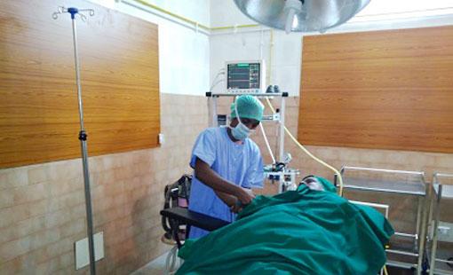 INDIA – OSPEDALE DI VADIPATTY. Impianto ossigeno post-operatorio